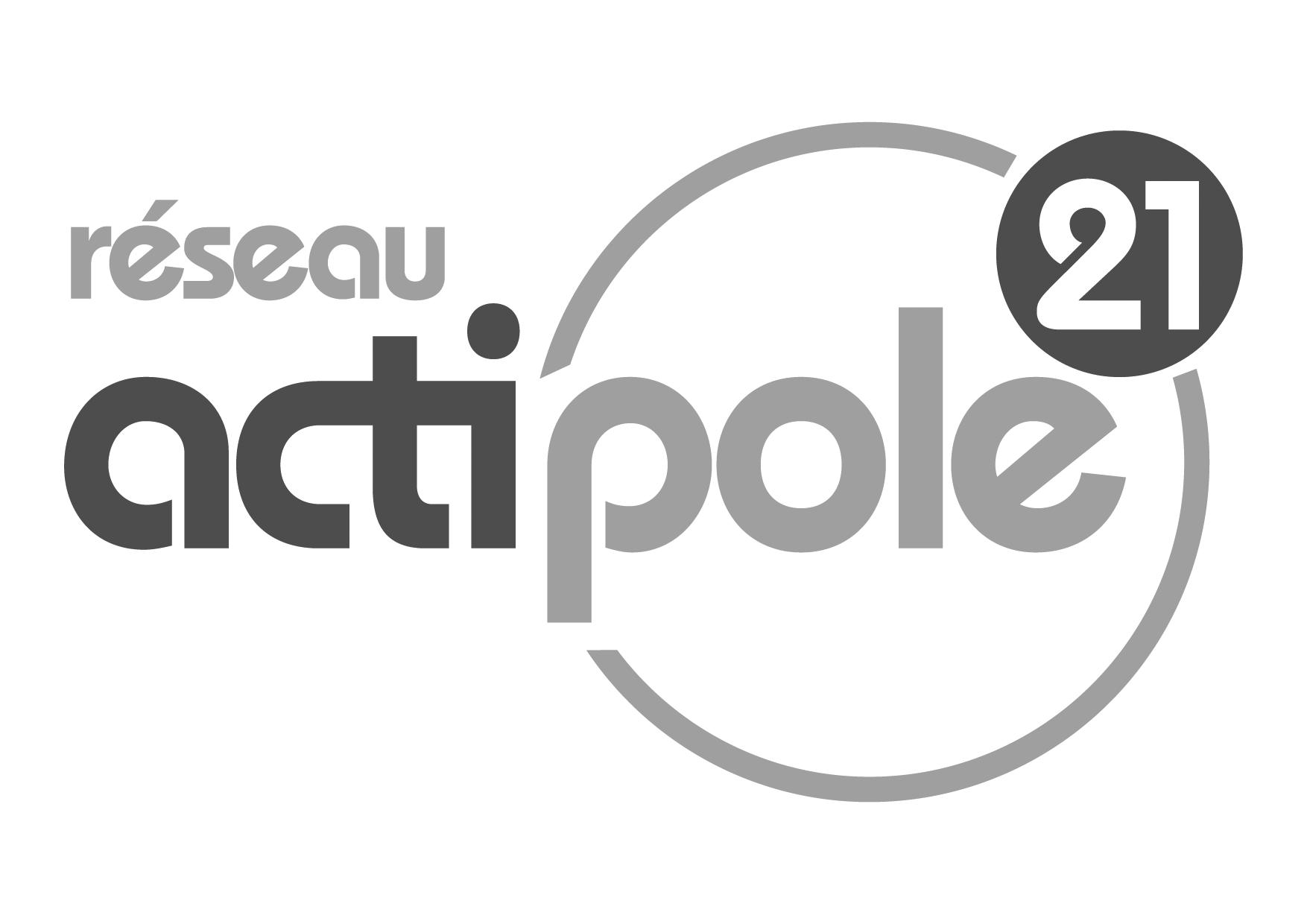 Logo actipole21 noir et blanc